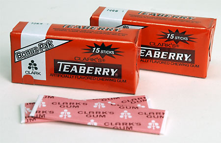 clarks-teaberry-gum