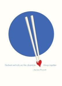 Chopstick card