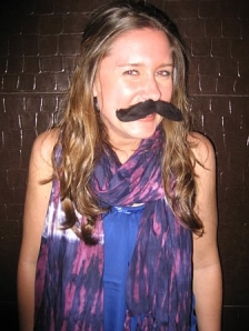 Kate with mustache
